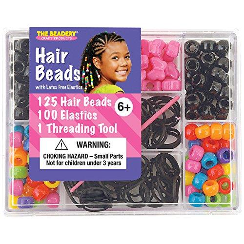 Beadery Kunststoff klein Haar Bead Box kit-Circus