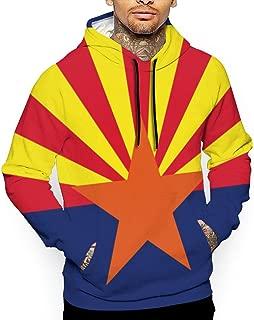 Go KJ Unisex Arizona State Flag Hoodies Casual Pullover Hood Jackets Sweatshirt