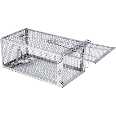 AB Traps Quality Live Animal Humane Trap Catch and Release Rats Mouse Mice Rodents Cage - Voles Squirrel and Similar Sized Pets Safe and Effective   Size Small