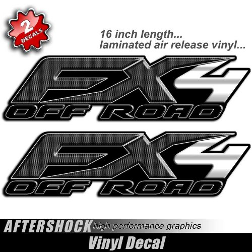 Decals FX4 Carbon Fiber Black Print Bedside Sticker