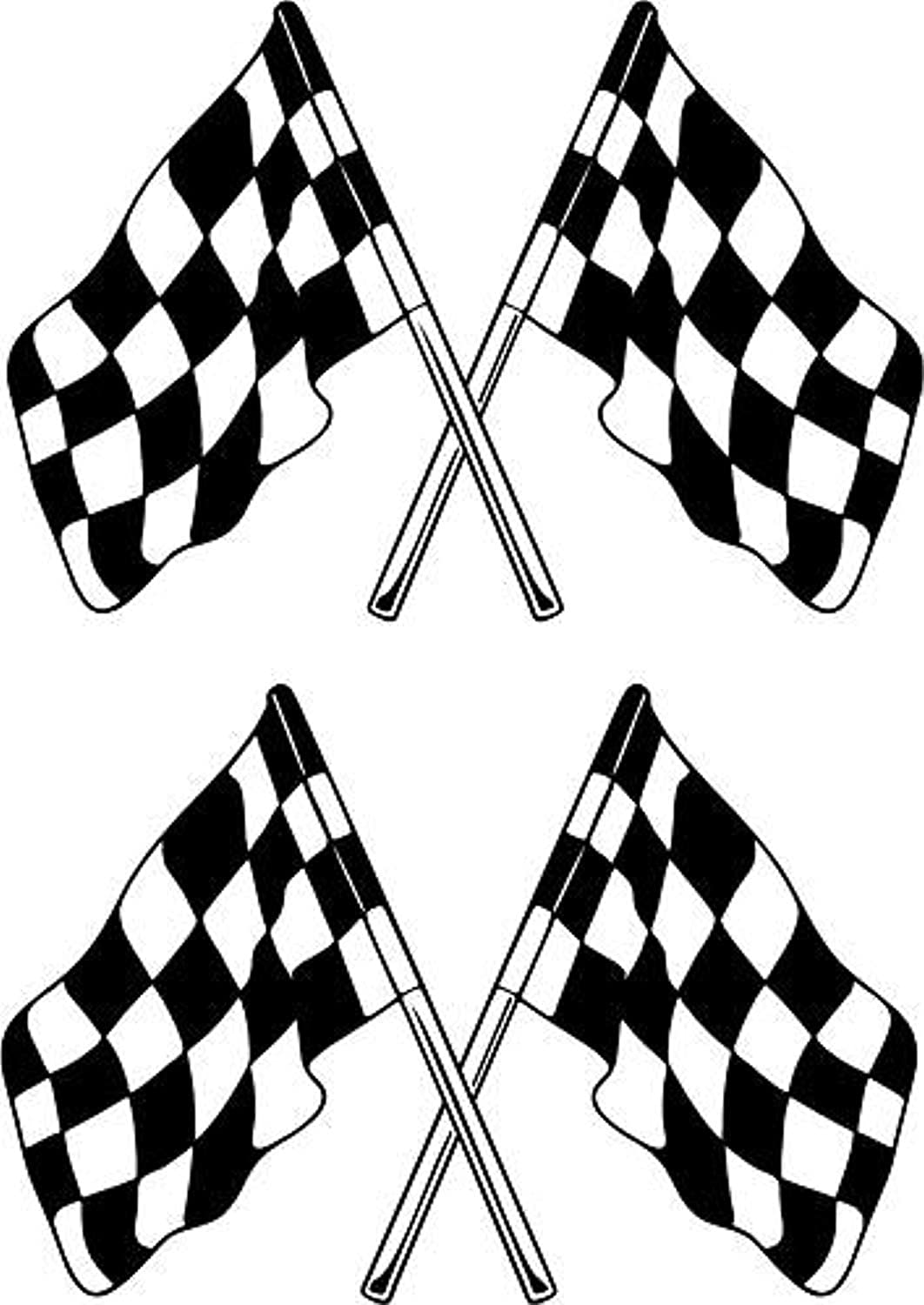 LightningSigns Chequered Flags Rally Motorsport Stock Car Stickers Wall Decals Decor Vinyl Sticker SK9028