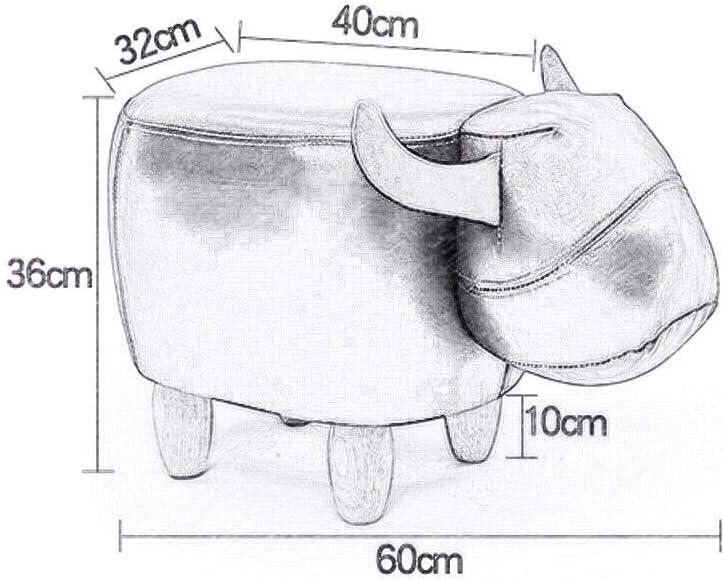 YUMUO Tabourets de Forme Animale Repose-Pieds Repose-Pieds avec Bois et bancs de sièges Souples pour Salon F1219 (Couleur: Brun foncé) 4