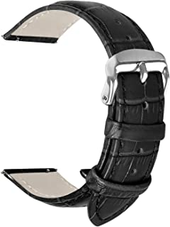Vetoo Quick Release Leather Watch Bands,Alligator Grain Band for 22mm/20mm/18mm Replacement Strap Wristband for Men Women