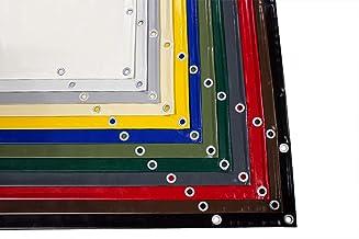 (2,4m breed) vrachtwagenzeil/PVC-zeil 600g/m2 met ogen (rondoogen) en zoom - wit, lichtgrijs, grijs, antraciet, bruin, roo...