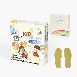comprar comparacion Plantillas de calentadores de pies desechables para niños:hasta 8 horas de tiempo de calentamiento,paquete de calentamient...