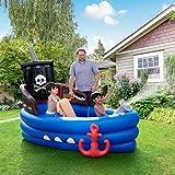 Teamson Kids Giardino Giochi Gonfiabile Barca Pirata per Bambini TK-48272B-UK/EU