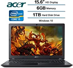 Acer Aspire 3 Laptop 15.6 inch HD Display, Intel Core i5-7200U 2.5 GHz, 6 GB DDR4 SDRAM Memory, 1 TB Hard Disk Drive, Intel HD Graphics 620, Windows 10 (Renewed)