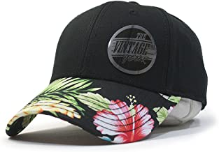 Vintage Year Premium Floral Hawaiian Cotton Twill Adjustable Snapback Hats Baseball Caps
