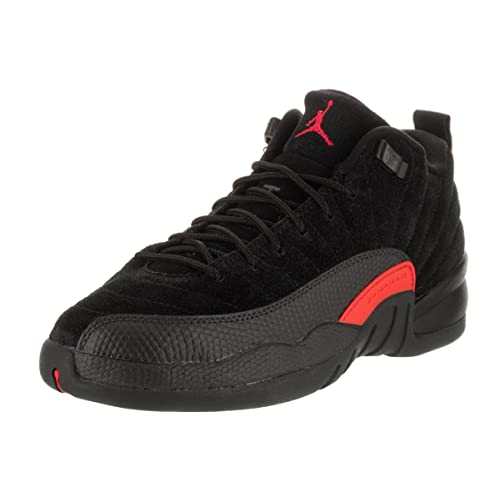 Nike New Kids Air Jordan 12 Retro Low BG Basketball Shoe Black/Max Orange 6.5