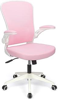 BlueOcean Chaise de bureau ergonomique en maille avec support dorsal et accoudoirs réglables