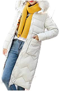 WUFAN Women Parka Hooded Puffer Coat Fashion Winter Coat Quilted Jacket