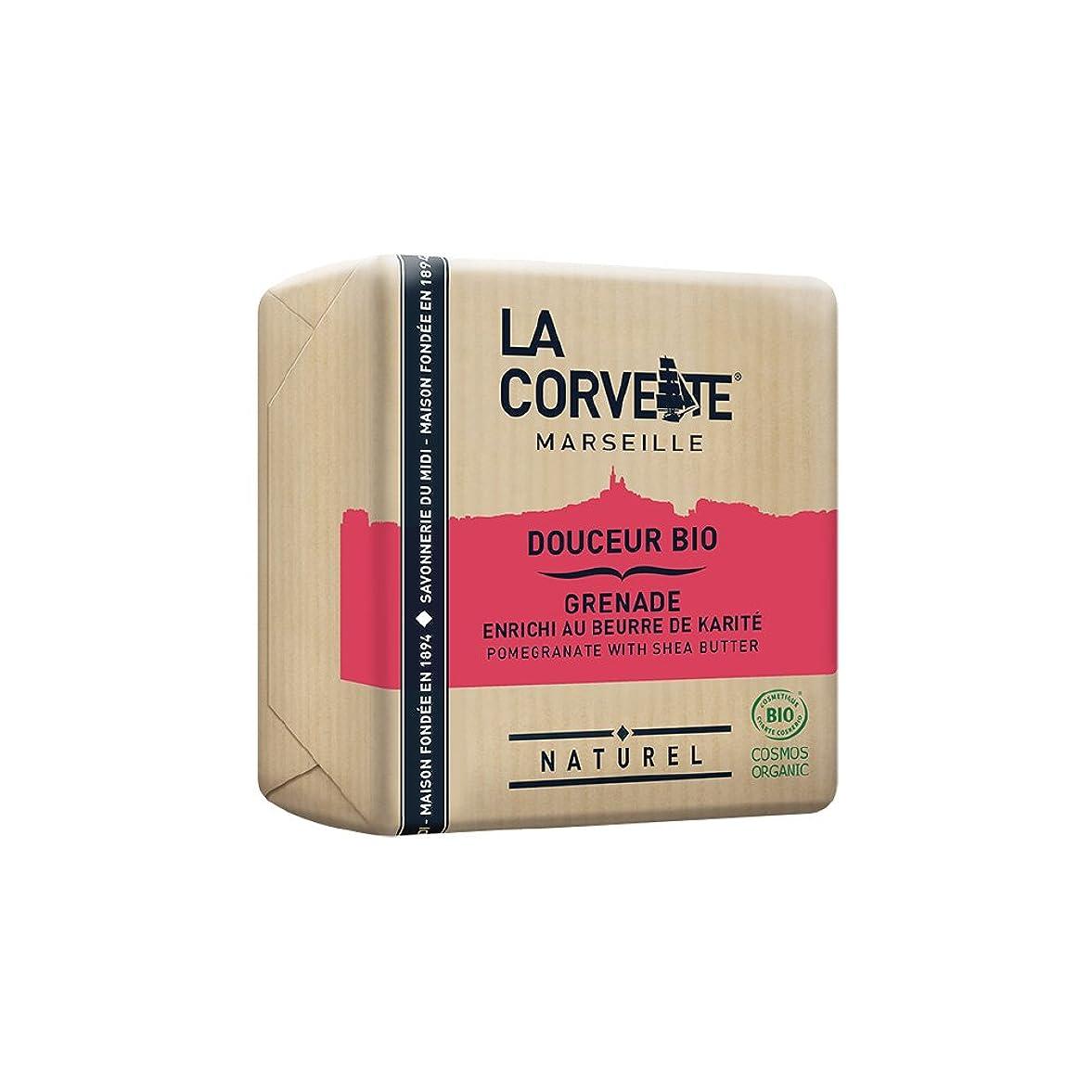 オセアニアアルコール生き物La Corvette(ラ?コルベット) サボン?ドゥスール?ビオ ポメグラネイト&シアバター 100g