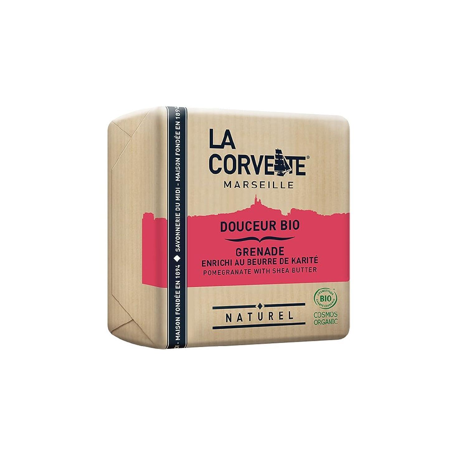 プリーツ気球農夫La Corvette(ラ?コルベット) サボン?ドゥスール?ビオ ポメグラネイト&シアバター 100g