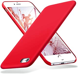 iPhone 6s Case, iPhone 6 Case, Liquid Silicone Rubber with Soft Microfiber Cloth Cushion Protective Case Thin Slim for iPhone 6s / iPhone 6 - Red