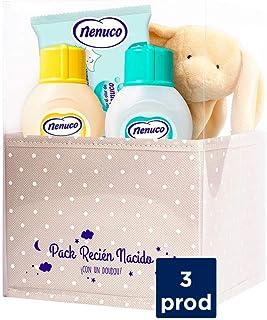 Nenuco Canastilla Regalo Bebé Recién Nacido con colonia toallitas jabón de baño infantil y doudou