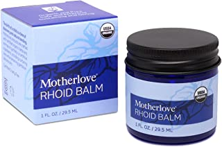 Motherlove Rhoid Balm (1oz) Organic Herbal Ointment with Witch Hazel for Hemorrhoids Caused by Pregnancy and Childbirth—He...