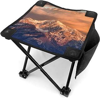 アウトドア 椅子 ワサッチ山脈のピークソルトレイクシティ東のマウントネボ アウトドア 椅子 ピクニック 釣り コンパクト イス 持ち運び キャンプ用軽量 収納バッグ付き 折りたたみチェア レジャー 背もたれなし