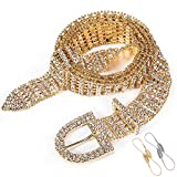 Barry.Wang Women Sexy Waist Chain Bling Full Diamond Belt Wedding Party Crystal Rhinestone Beads Sash Luxury Gift