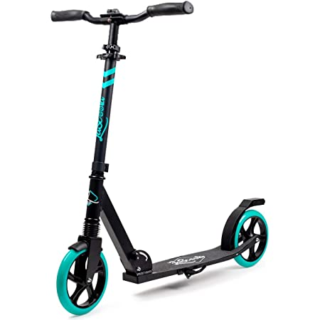 """Lascoota Scooters for Kids 8 Years and up - Quick-Release Folding System - Front Suspension System + Scooter Shoulder Strap 7.9"""" Big Wheels Great Scooters for Adults and Teens"""