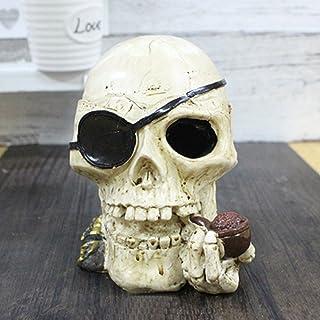 Toim con diseño de calavera cenicero cenicero de resina de moda original decoración escritorio de fumar