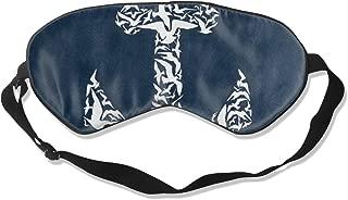 Unisex Sleeping Eye Mask White Bird Anchor Blue Eye Mask Cover with Adjustable Strap Blindfold Eyemask for Travel, Nap, Meditation