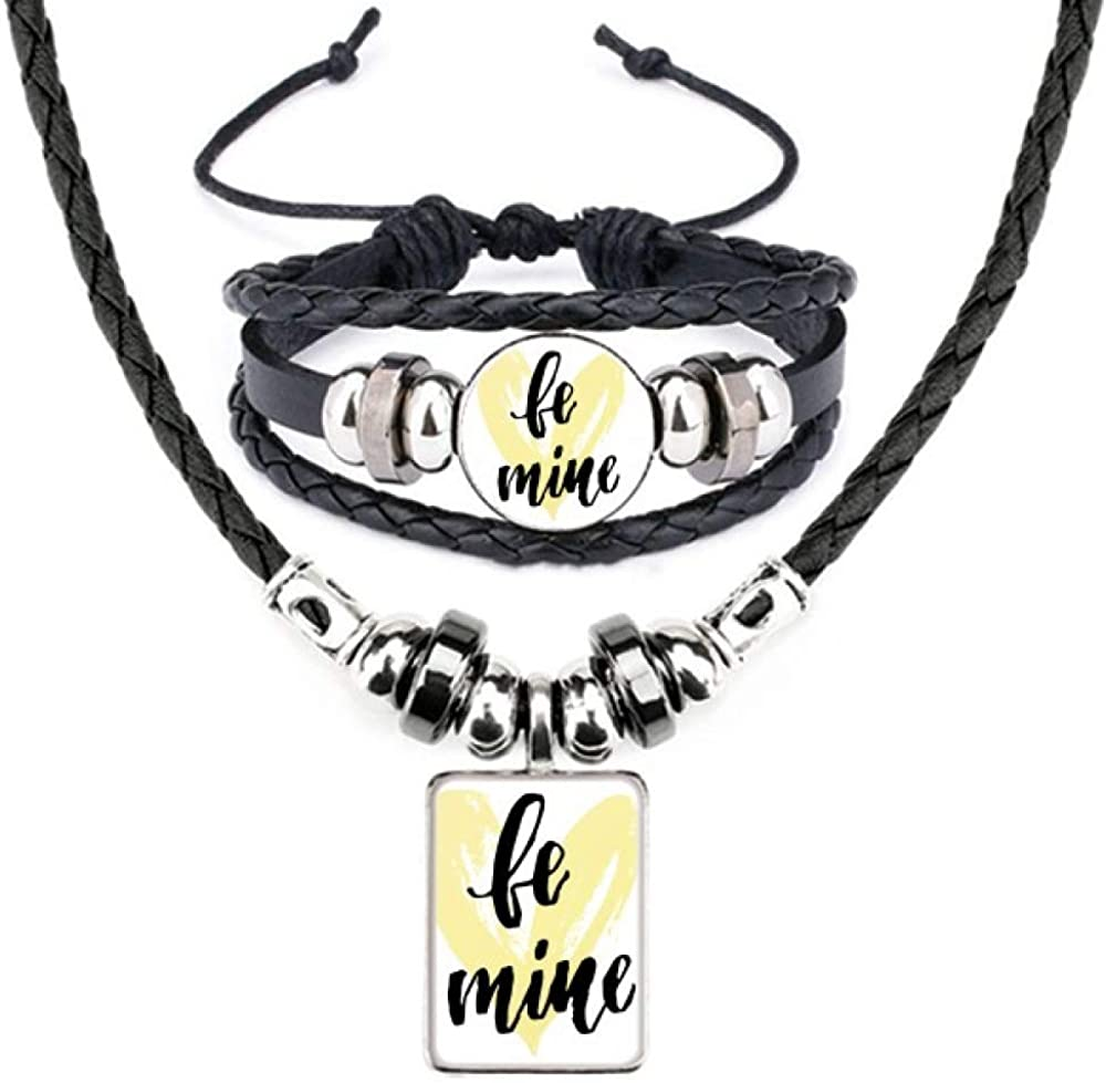 Be Free shipping anywhere in the nation Mine Yellow Love All items free shipping Quote Jewelr Necklace Bracelet Leather Style