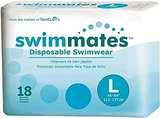 Swimmates Disposable Swim Diapers, Large, Case/72 (4/18s)