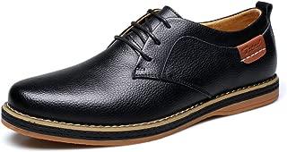 Alexis Leroy - Zapatos Derby con Cordones de Cuero Casual para Hombre