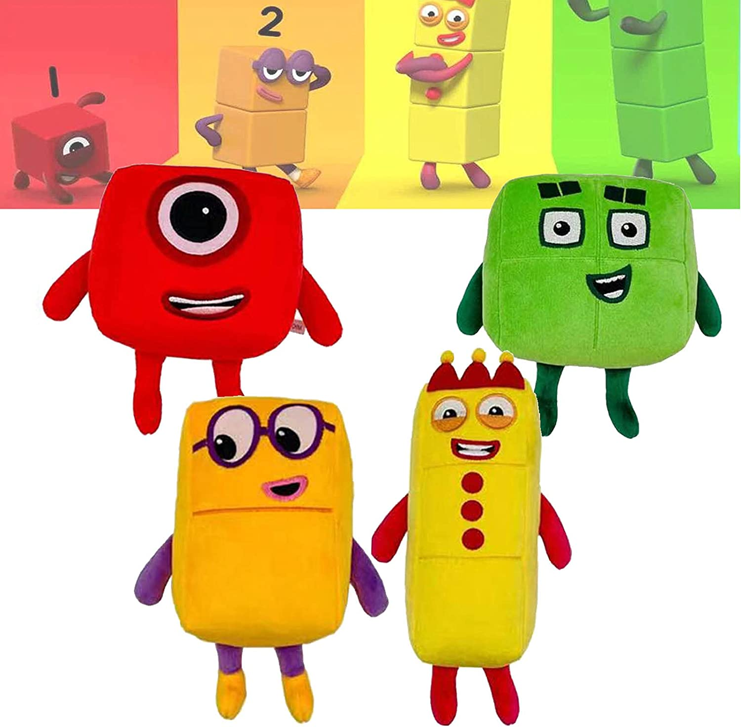Max 58% 40% OFF Cheap Sale OFF 4pcs Numberblocks Plush Cute Chubby Math Enlightenment Animation