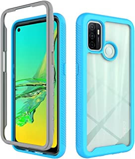 Grandcaser Case for Oppo A53 Ultra-thin Soft Fashion PC+TPU Double-Layer Shock-Proof Drop-Proof Protective Cover for Oppo ...