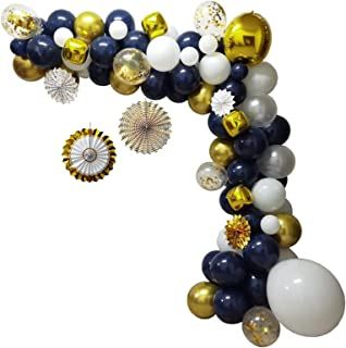 Baby Party Supplies 102PCS Balloons Party Decorations Set Girls Women Baby Birthday Party Supplies DIY Navy Theme Party Ba...