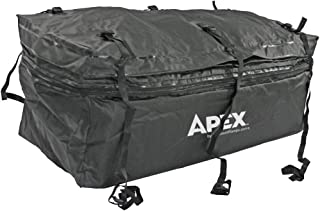 "Rage Powersports 60"" Waterproof Hitch Cargo Carrier Rack Bag with Expandable Height"