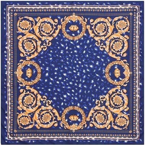 jiao Sciarpa Quadrata 100% Seta Donna Marca Foulard Neckerchief Sciarpe Leopardate di Alta qualità Scialle Hijab Bandana da Ufficio 70 cm * 70 cm 4