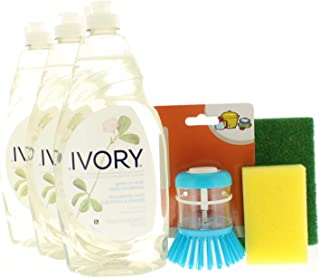 Ivory Concentrated Dishwashing Liquid, Classic Scent 24 Fl. Oz Assorted Cleaning Bundle