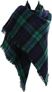 Fesky Womens Plaid Blanket Scarf Scarfs Oversized Tartan Wrap Shawl Cape Scarves for Women