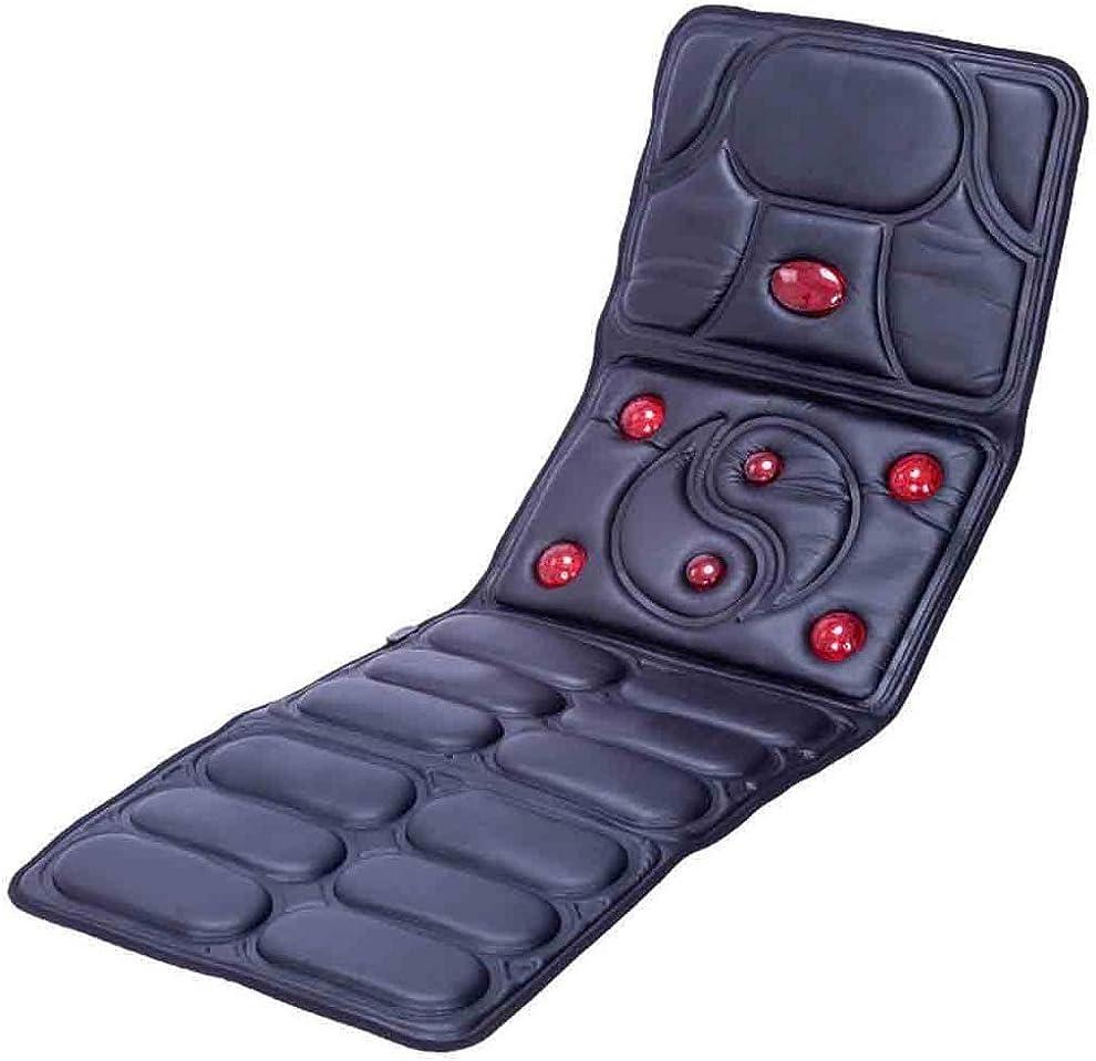 胆嚢傀儡コショウ首、背中、足の痛みを軽減するための熱で全身混練振動マッサージャーマットレスキングパッド用マッサージマット,黒