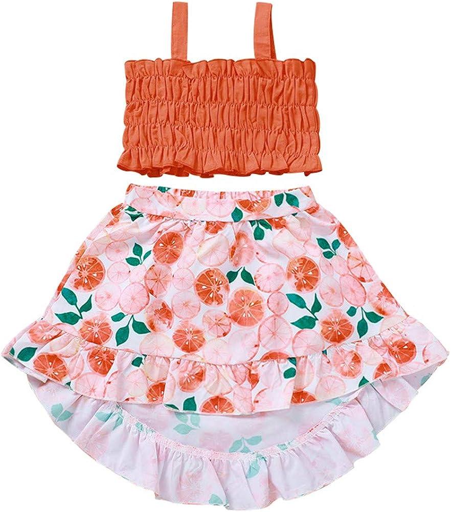 Mud Kingdom Toddler Girls High Low Skirt Halter favorite Top and Skir Set It is very popular