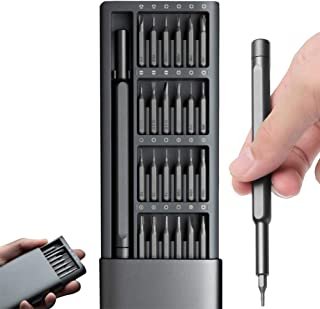 IFAN® Precision Screwdriver Set (24-in-1) Magnetic Head Pop-Up Frosted Aluminum Alloy Storage Tool Box for Laptop Repair T...