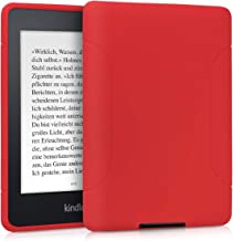 kwmobile Case for Amazon Kindle Paperwhite - Soft TPU Silicone Skin Protective e-Reader Back Cover - (for 2017 and Older) Red Matte