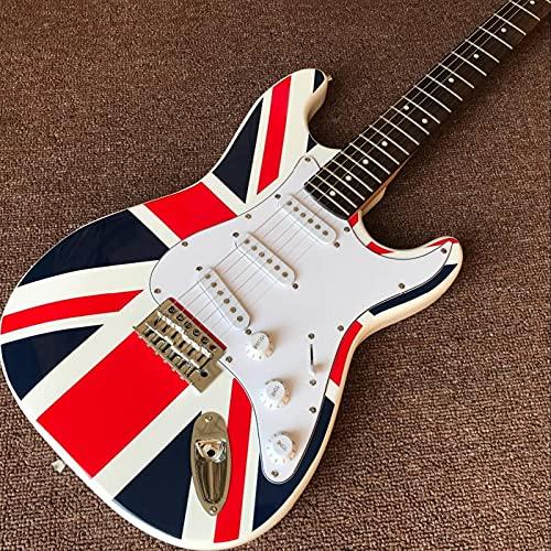 KEPOHK Guitarra eléctrica, Diapasón de palisandro Guitarra, Gitaar hecho a mano con...