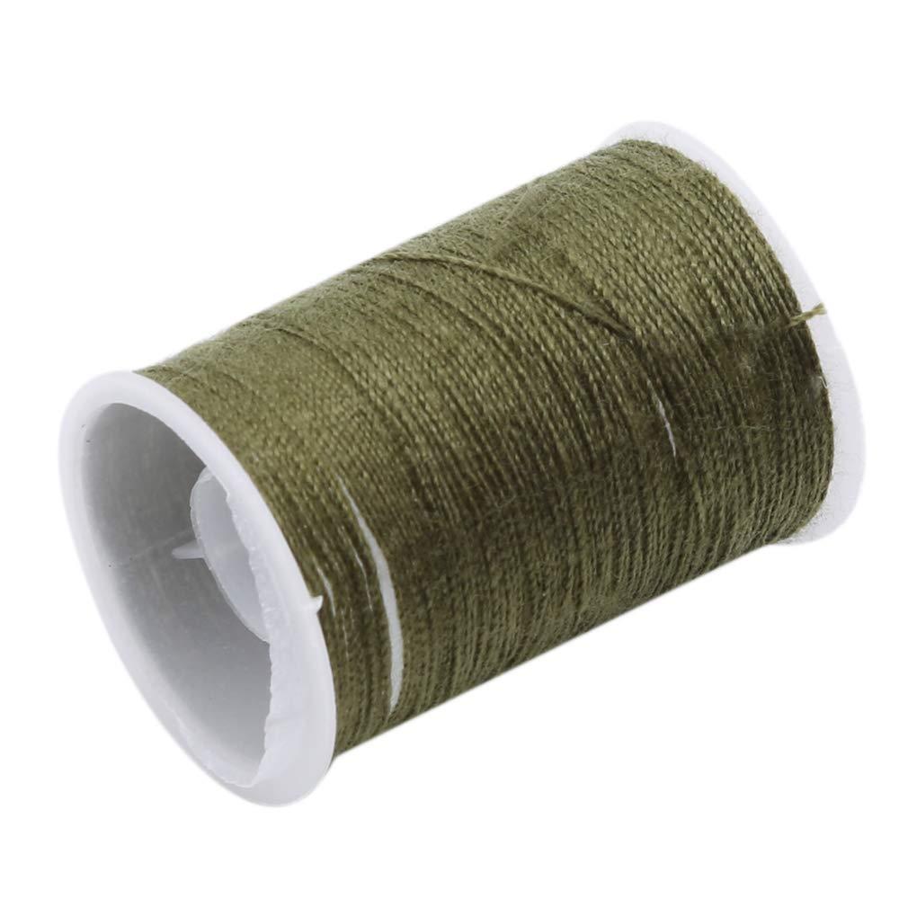 L_shop - Hilo de coser para tapicería (poliéster, hilo de coser), color verde: Amazon.es: Hogar