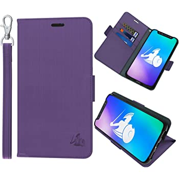 DefenderShield Compatible iPhone XR EMF & 5G Radiation Protection Case - Detachable Magnetic Anti Radiation Shield & RFID Blocker Wallet Case w/Wrist Strap