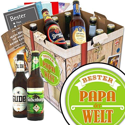 BESTER-PAPA der WELT Biergeschenk Set + gratis Bierbuch + Geschenkkarten + Bierbewertungsbogen. Bier Geschenkset +… Bier Geschenke für den Lieblings-Papa. Besser als Bier selber machen oder selbst brauen: Vatertagsgeschenk Vatertagsbier lustige Gesch
