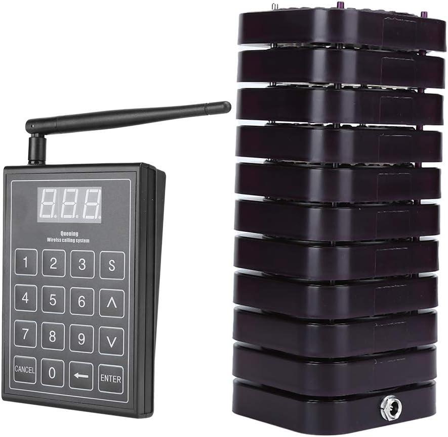 Pager Wireless Calling System 1 Receivers 10 Queue Transmitter Over item Regular dealer handling ☆