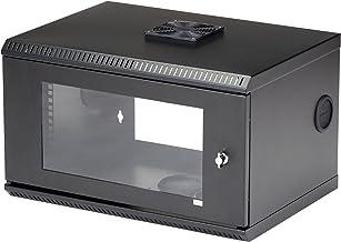 StarTech.com 6U Wall Mount Network Cabinet w/ Lockable Door and Fan for 19in Server Room, AV & Data Equipment - 14.7in Dee...