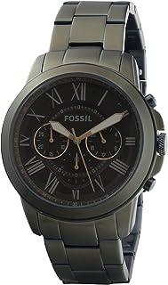 ساعة فوسيل جرانت كوارتز للرجال بسوار من الستانلس ستيل، لون اخضر، 22 (رقم الموديل: FS5375)