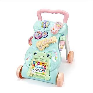 HAOBANLV Andador Bebé Primeros Pasos Juguete De Entrenamiento De Caminata Musical De Velocidad Ajustable con Dibujo, Caminador Anti-Retroceso para Niños Y Niñas A Partir De 6 Meses