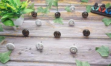 Maviss Homes Handcrafted Assorted White & Black Knobs Floral Handles Ceramic Cabinet Pulls Mix Vintage Combo Designer Gift