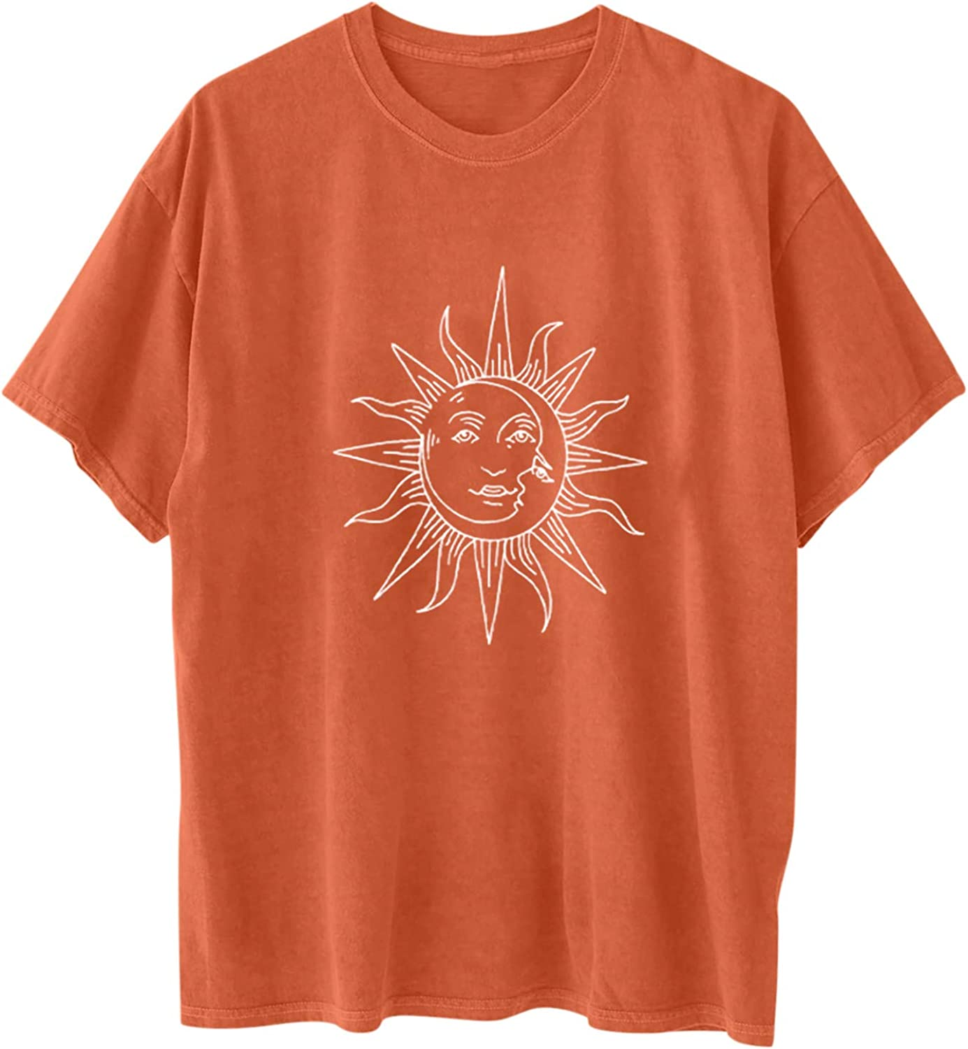 Raleigh Mall Gemira Vintage Shirts for Women Graphic and online shopping Sun Tshirt Tees Moon