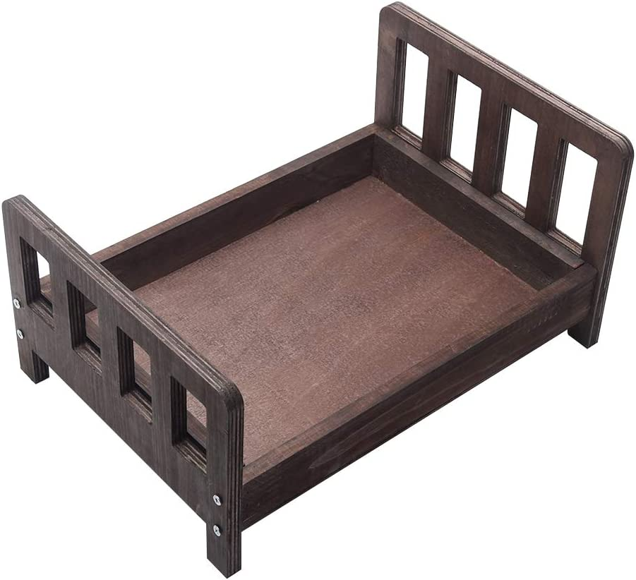 2021 new NSVJVY Newborn Photography Props Rustic Cradle Newb Bed Handmade Sales for sale